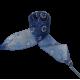 Módní tkaničky s kytičkami - tmavě modré