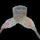 Módní tkaničky s kytičkami - světle modré
