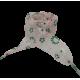 Módní tkaničky s kytičkami - růžové 02