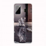 Pouzdro / Obal Galaxy A41 - Kotě a tygr
