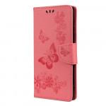 Pouzdro Motorola Moto G9 Power - růžové motýli
