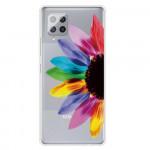 Pouzdro Galaxy A42 5G - průhledné - Květ