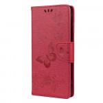 Pouzdro Motorola Moto G9 Power - tmavě růžové - motýli