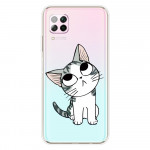 Obal Huawei P40 Lite - průhledný - Kočka