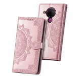 Pouzdro Nokia 5.4 - růžové - Mandala