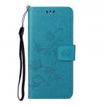 Pouzdro Honor 10X Lite - modré - Květy a motýli