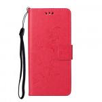 Pouzdro Honor 10X Lite - tmavě růžové - Květy a motýli