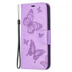 Pouzdro Nokia 5.4 - fialové - Motýli