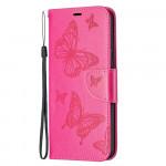 Pouzdro Nokia 5.4 - tmavě růžové - Motýli