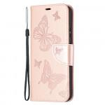 Pouzdro Nokia 5.4 - světle růžové - Motýli