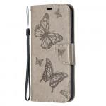 Pouzdro Nokia 5.4 - šedé - Motýli