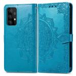 Pouzdro Galaxy A52 / A52 5G - Mandala - modré