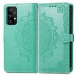 Pouzdro Galaxy A52 / A52 5G - Mandala - tyrkysové