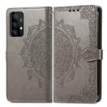 Pouzdro Galaxy A52 / A52 5G - Mandala - šedé