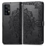 Pouzdro Galaxy A52 / A52 5G - Mandala - černé