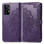 Pouzdro Galaxy A52 / A52 5G - Mandala - fialové
