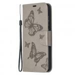 Pouzdro Galaxy A52 / A52 5G - Motýli - šedé