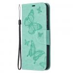 Pouzdro Galaxy A52 / A52 5G - Motýli - tyrkysové
