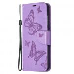 Pouzdro Galaxy A52 / A52 5G - Motýli- fialové