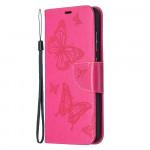 Pouzdro Galaxy A52 / A52 5G - Motýli - tmavě růžové