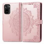 Pouzdro Xiaomi Redmi Note 10 / Note 10S - Mandala - světle růžové 02