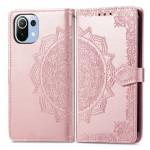 Pouzdro Xiaomi Mi 11 Lite - Mandala - růžové