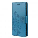 Pouzdro Xiaomi Redmi Note 10 / Note 10S - Květy a motýli - modré