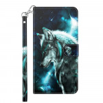 Pouzdro Galaxy A12 - Vlk 3D