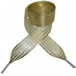 Módní tkaničky - zlaté pruhované