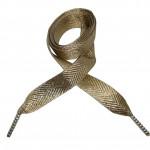 Módní tkaničky - zlaté třpytivé