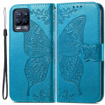 Pouzdro Realme 8 4G / 8Pro - modré - Motýl