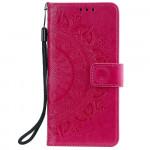 Pouzdro Xiaomi Redmi Note 10 5G / Poco M3 Pro - Mandala - tmavě růžové