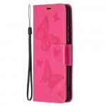 Pouzdro Xiaomi Redmi Note 10 Pro - tmavě růžové motýli