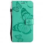 Pouzdro Realme 8 5G - tyrkysové - Motýli