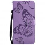 Pouzdro Realme 8 5G - fialové - Motýli