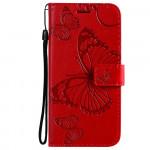 Pouzdro Realme 8 5G - červené - Motýli