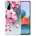 Obal Xiaomi Redmi Note 10 4G / Note 10S - průhledný - Květy 02