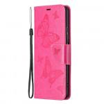 Pouzdro Xiaomi Mi 11i 5G / Poco F3 - tmavě růžové - Motýli