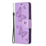 Pouzdro Xiaomi Mi 11i 5G / Poco F3 - fialové - Motýli