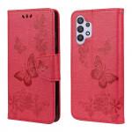 Pouzdro Galaxy A32 4G - červené - Motýli