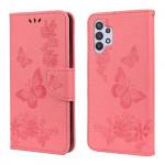Pouzdro Galaxy A32 4G - růžové - Motýli
