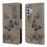 Pouzdro Galaxy A32 4G - šedé - Motýli
