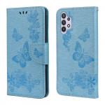 Pouzdro Galaxy A32 4G - modré - Motýli