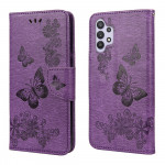 Pouzdro Galaxy A32 4G - fialové - Motýli