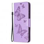 Pouzdro Galaxy A22 5G - fialové - Motýli