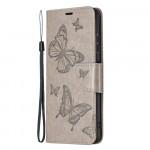 Pouzdro Galaxy A22 5G - šedé - Motýli