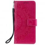 Pouzdro Motorola Moto G10 / G20 / G30 - tmavě růžové - Mandala 02