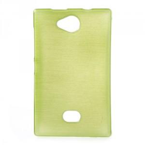Pouzdro / Obal - Broušený vzor, žlutozelený - Asha 503