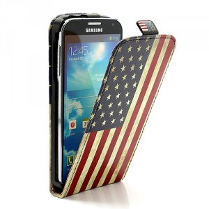 Pouzdro Flip - Vlajka USA Vintage - Galaxy S4 i9500