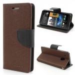 Pouzdro Wallet HTC One Mini - hnědé/černé